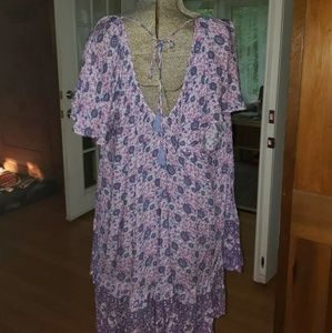 Spell & The Gypsy Collective Dresses - Spell Gypsy Kombi Flutter Dress, lavender, small